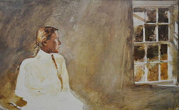 White Dress 1987 Hand Signed Limited Edition Print - Andrew Wyeth