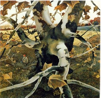 Hunter 1995 Hand Signed Limited Edition Print by Andrew Wyeth