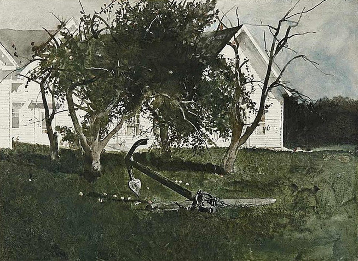 Sea Anchor 1977 Hand Signed Limited Edition Print by Andrew Wyeth