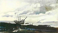 Schooner Around HS Limited Edition Print by Andrew Wyeth - 0