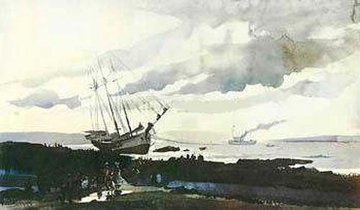 Schooner Around HS Limited Edition Print - Andrew Wyeth