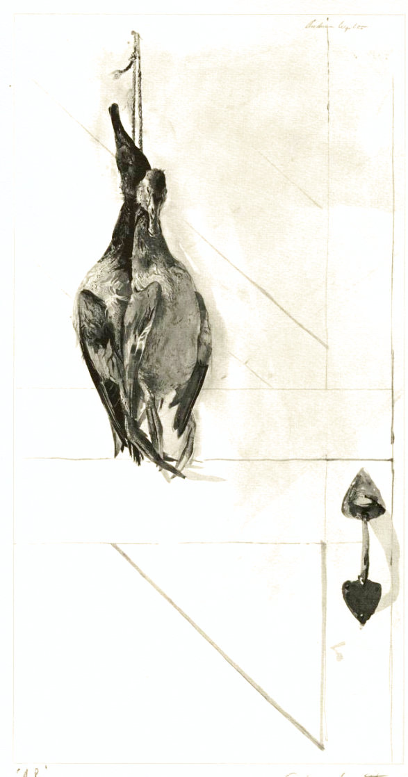 Canvasbacks 1962 HS Limited Edition Print by Andrew Wyeth