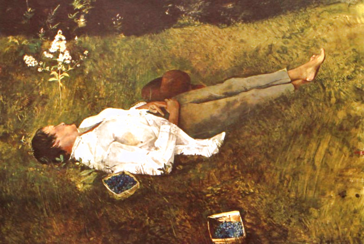 Berry Picker 1962 HS Limited Edition Print by Andrew Wyeth