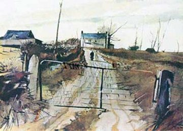 Chester County Farm HS Limited Edition Print - Andrew Wyeth