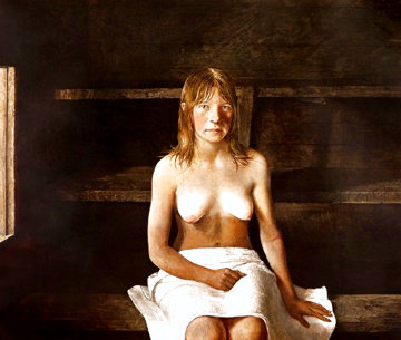 Sauna 1978  Limited Edition Print - Andrew Wyeth