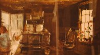 Woodstove HS 1963 Limited Edition Print by Andrew Wyeth - 2