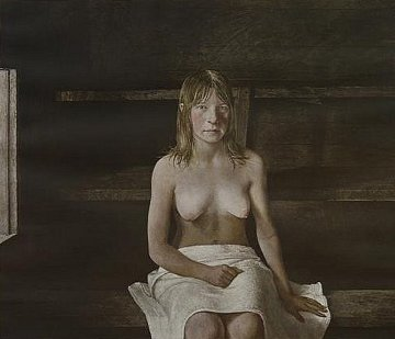 Sauna 1979  HS Limited Edition Print - Andrew Wyeth