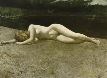 Black Water 1978 HS Limited Edition Print - Andrew Wyeth