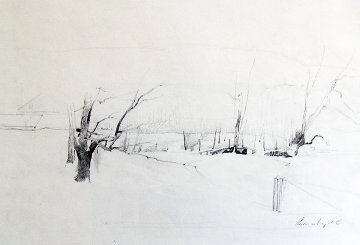 Study of River Valley  Drawing - Andrew Wyeth