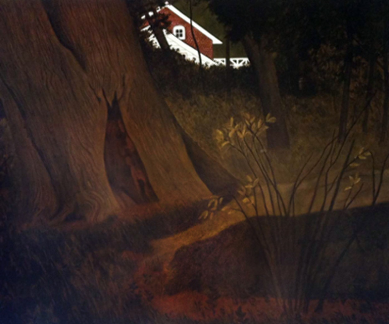 Up From the Woods HS 32x37 Super Huge  Limited Edition Print by Carolyn Wyeth