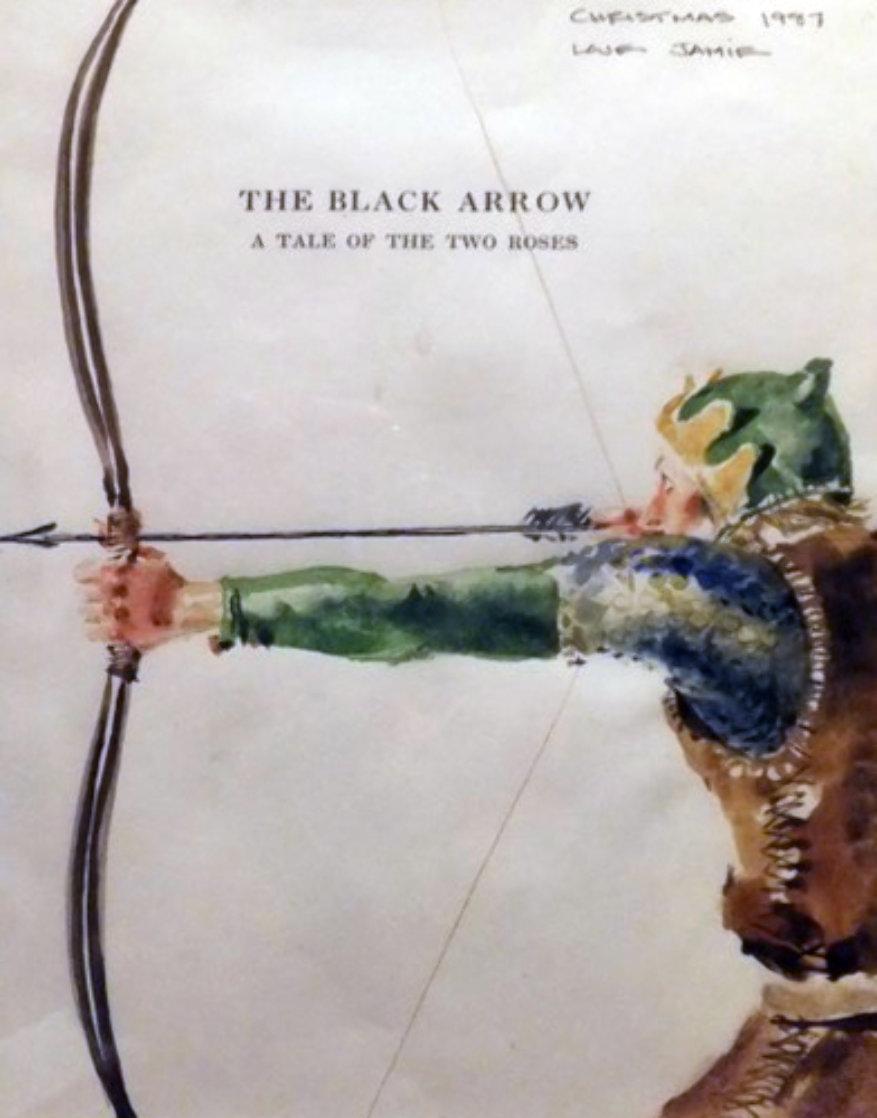 Black Arrow Watercolor 1987 HS 14x10 Watercolor by Jamie Wyeth