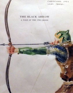 Black Arrow Watercolor 1987 HS 14x10 Watercolor - Jamie Wyeth