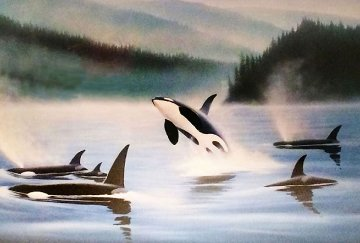 Northern Pacific Orcas, Suite of 3 1985 Limited Edition Print by Robert Wyland
