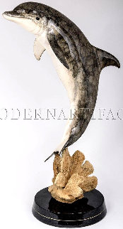 Day Of The Dolphin Bronze Sculpture AP 1998 27 in Sculpture - Robert Wyland