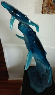 First Breath Acrylic Sculpture 1992 35 in Sculpture by Robert Wyland