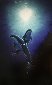 Love in the Sea AP 1999 Embellished Limited Edition Print by Robert Wyland