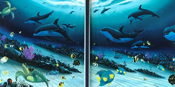 Radiant Reef Diptych AP Embellished 2000 Limited Edition Print - Robert Wyland
