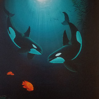 In the Company of Orcas  Limited Edition Print - Robert Wyland