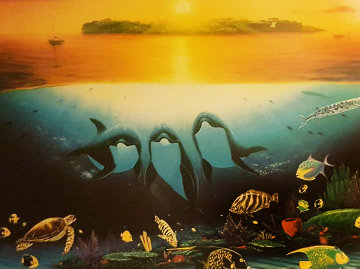 Sunset Celebration 1997 Limited Edition Print by Robert Wyland