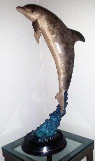 Dolphin Encounter Bronze Sculpture 1994 28 in Sculpture by Robert Wyland