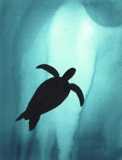 Turtle 2008 28x20 Watercolor - Robert Wyland