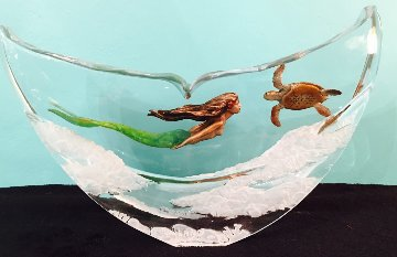 Turtle And Mermaid Acrylic Sculpture 2016 15 in Sculpture - Robert Wyland
