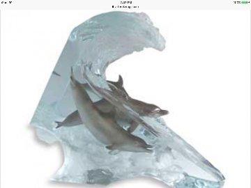 Surf Riders Acrylic Sculpture 2005  Sculpture - Robert Wyland