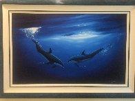 Dancing in the Deep Blue Sea 2000 58x40 Super Huge Original Painting by Robert Wyland - 3