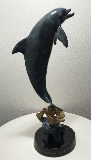 Dolphin Dream Bronze Sculpture 1999 32 in Sculpture - Robert Wyland