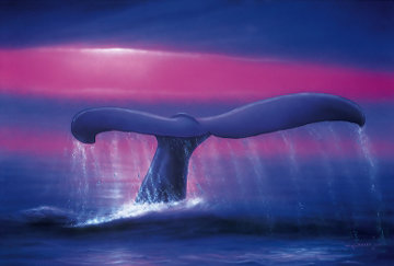 A New Millenium - Whale Tail AP 2000 Limited Edition Print - Robert Wyland