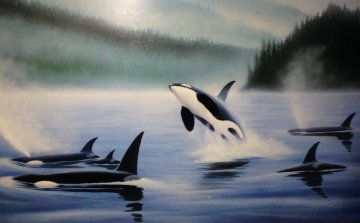 Northern Pacific Orcas, Set of 3 Prints 1985 Limited Edition Print by Robert Wyland