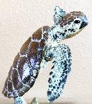 Sea Turtle Bronze Sculpture 12 in Sculpture - Robert Wyland