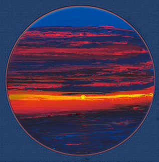 Sunset on the Gulf AP 2006 Limited Edition Print by Robert Wyland