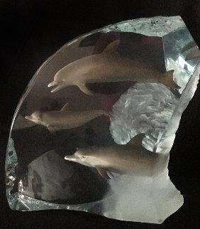 Dolphin Wonder Acrylic Sculpture 2001 14 in Sculpture by Robert Wyland