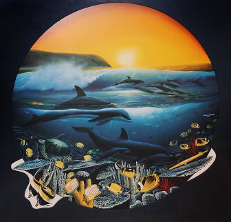 Surfing 1992 Limited Edition Print by Robert Wyland