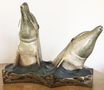 Friends of the Sea Bronze Scuplture 1995 14 in Sculpture - Robert Wyland