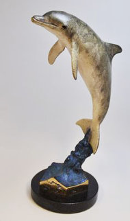 Dolphin Encounter Bronze Sculpture 1993 29 in Sculpture - Robert Wyland