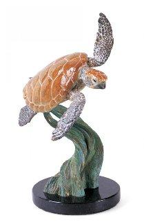 Ancient Mariner Bronze Sculpture 1995 12 in Sculpture by Robert Wyland