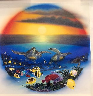 Sea Turtle Reef 2003 Limited Edition Print by Robert Wyland