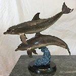 Ocean Travelers Bronze Sculpture  1993 31 in Sculpture - Robert Wyland