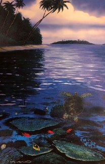 Two Worlds of Paradise 2006 Limited Edition Print by Robert Wyland