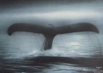Tails of Great Whales 1989 Limited Edition Print by Robert Wyland