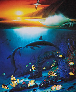 Kissing Dolphins AP 1990 Limited Edition Print by Robert Wyland