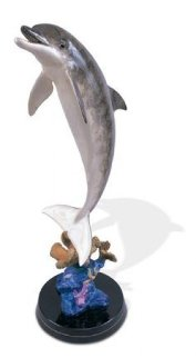 Dolphin Dream Bronze Sculpture 1999 30 in Sculpture - Robert Wyland