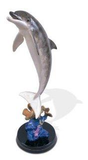 Dolphin Dream Bronze Sculpture 1999 30 in Sculpture by Robert Wyland