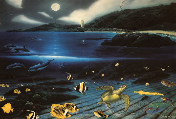 Waimea Moon 1996 Limited Edition Print - Robert Wyland