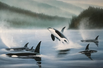 Northern Pacific Orcas, Suite of 3 Lithographs 1985 Limited Edition Print - Robert Wyland