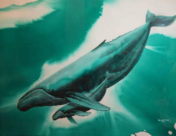 Untitled Watercolor 1989 52x70 Watercolor - Robert Wyland