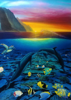 A Kiss For the Sea 2005 Limited Edition Print by Robert Wyland