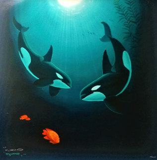 In the Company of  Orcas 2000 Limited Edition Print by Robert Wyland